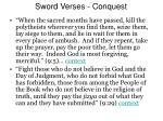 sword verses conquest