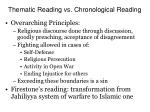 thematic reading vs chronological reading