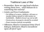 traditional laws of war