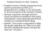 traditional narrative of jihad evidence