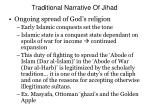 traditional narrative of jihad