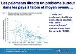 les paiements directs un probl me surtout dans les pays faible et moyen revenu