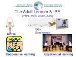 the adult learner ipe petrie 1976 d eon 2005