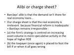 alibi or charge sheet