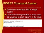 insert command syntax