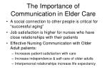 the importance of communication in elder care