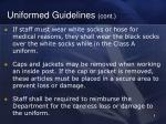 uniformed guidelines cont1