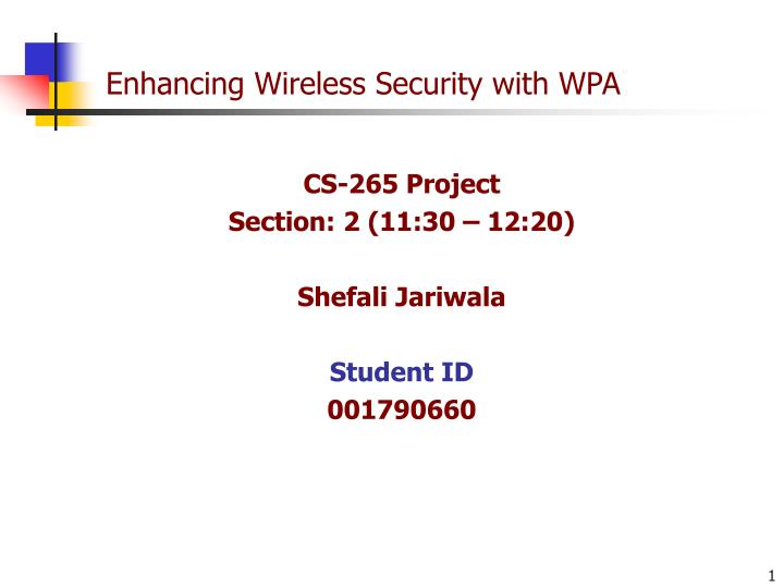 enhancing wireless security with wpa n.