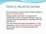 topic c relative dating
