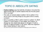 topic d absolute dating