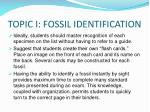 topic i fossil identification
