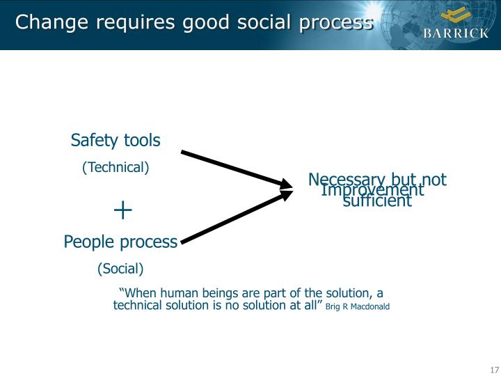Change requires good social process