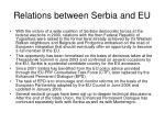 relations between serbia and eu