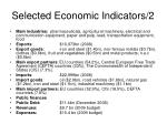 selected economic indicators 2