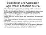 stabilization and association agreement economic criteria