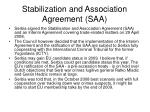 stabilization and association agreement saa