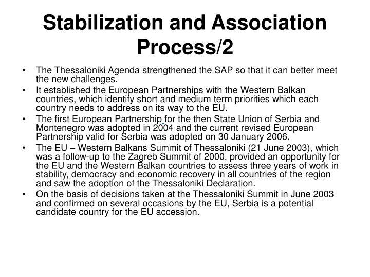 Stabilization and Association Process/2