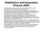 stabilization and association process sap