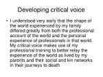 developing critical voice