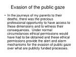 evasion of the public gaze