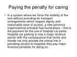 paying the penalty for caring