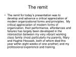 the remit