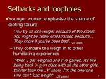 setbacks and loopholes1