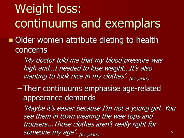 Weight loss: