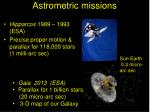 astrometric missions