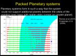 packed planetary systems
