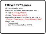 fitting gov tm lenses