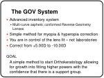 the gov system