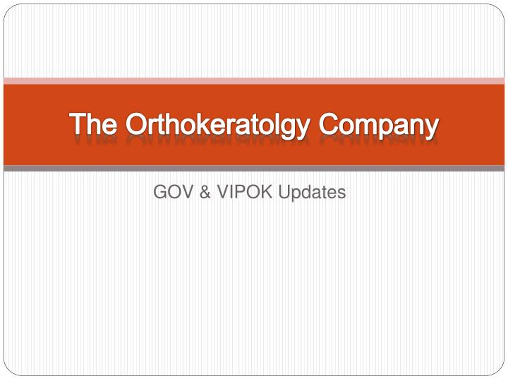 the orthokeratolgy company n.