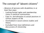 the concept of absent citizens