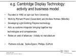 e g cambridge display technology activity and business model