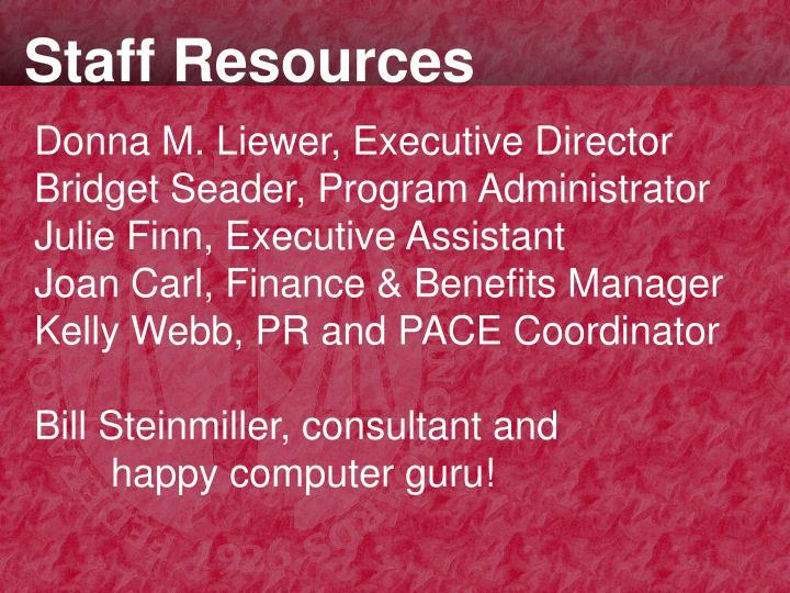Staff Resources