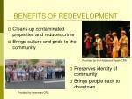 benefits of redevelopment1