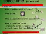 space time where and when
