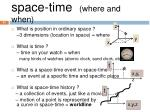 space time where and when1