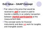 exit value gaap concept