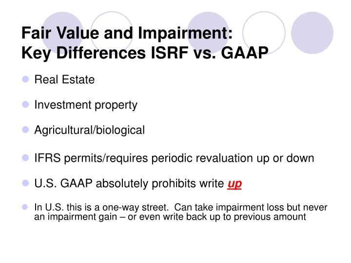 Fair Value and Impairment: