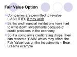 fair value option