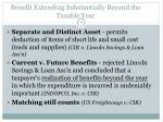 benefit extending substantially beyond the taxable year