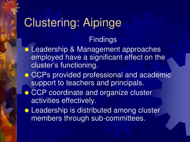 Clustering: Aipinge