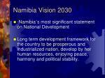 namibia vision 20301