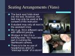 seating arrangements vans