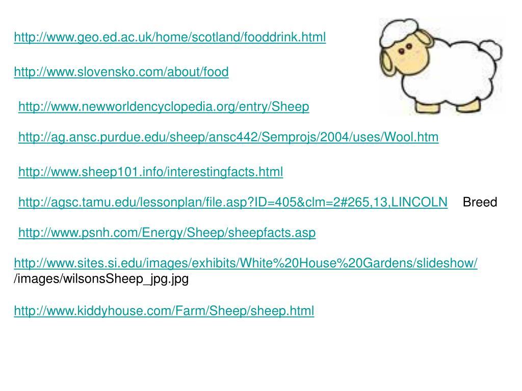 http://www.geo.ed.ac.uk/home/scotland/fooddrink.html