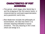 characteristics of post modernism