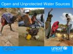 open and unprotected water sources