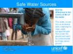 safe water sources